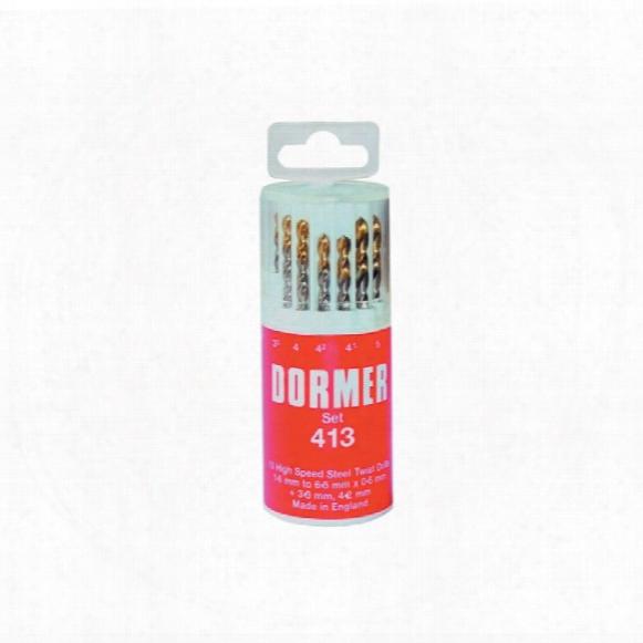 Dormer A094 Set 413 Hss-tin Jobber Drills (13-pce)