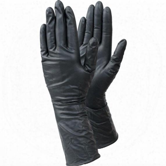 Ejendals 849 Tegera Black Nitrile Disposable Gloves - Size 8