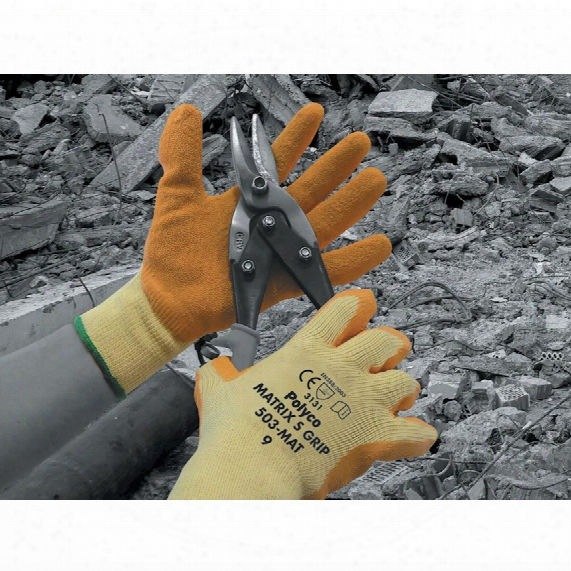 Polyco 503-mat Matrix S/grip Gloves Orange Size 9