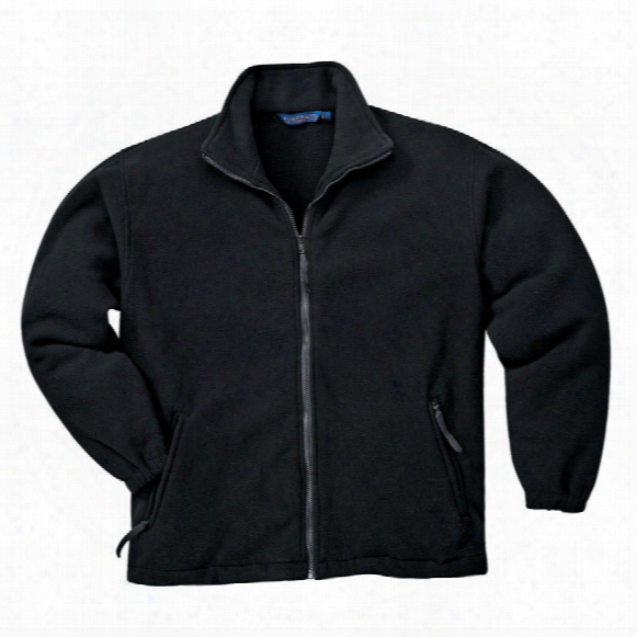 Portwest F400 Argyll Black Fleece Jacket - Size M
