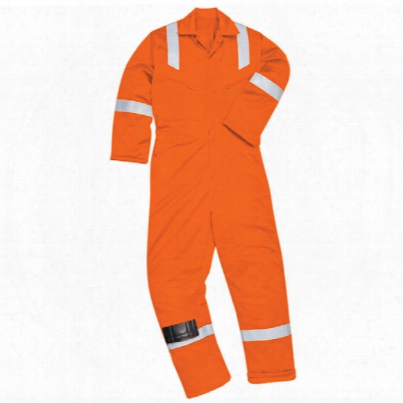 Portwest Fr50 Orange Flame Retardant Coveralls (m) Reg