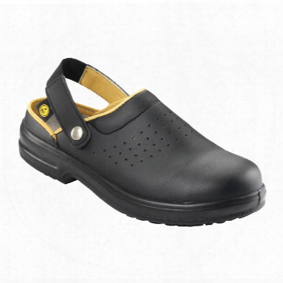 Psf E113 Esd Black Safety Clogs - Size 10