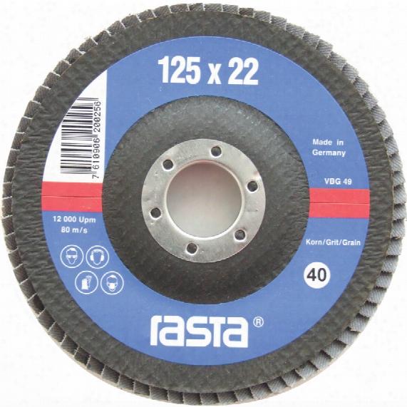 Rasta 5560.40ra 125x22mm Fi/bac K Flap Disc