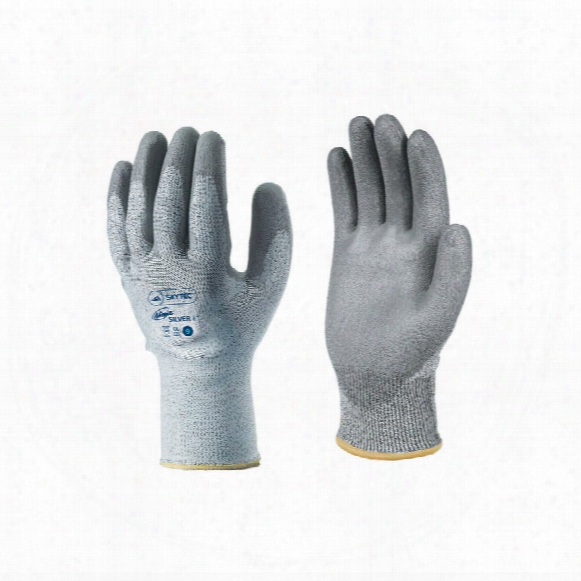 Skytec Ninja Silver Plusp U Palm Coat Gloves 6/xs