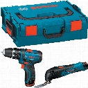 Bosch 10.8V Combi Drill/Multi Cutter Kit 2X1.5Ah L-Boxx