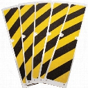 Coba Grip-Foot Stair Tread Black/Yellow 625X114Mm(Pk-5)