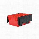 Matlock 49.5Ltr Hd Euro Nesting Bin Red/Blk C/W Lid