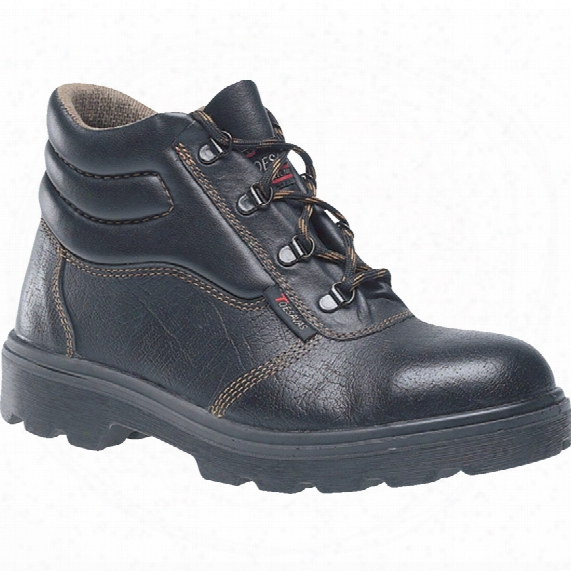 Toesavers C001sm Dual Density Black Safety Boots - Size 4