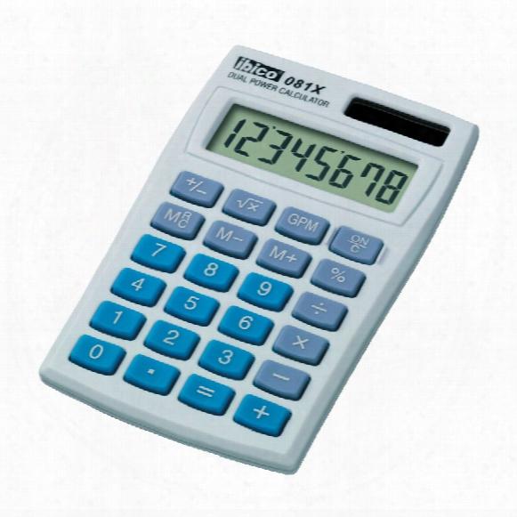 Accodata Ibico 081x 8 Digit Dual Power Calculator