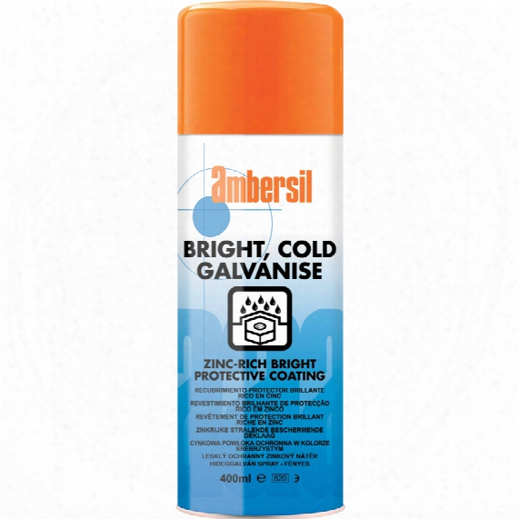 Ambersil Cold Galvanising Spray Bright 400ml