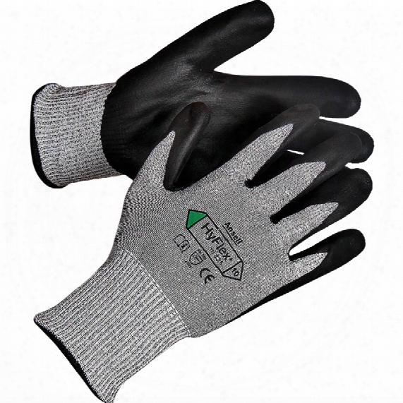 Ansell 11-435 Hyflex Dyneema Poly. Palm Coat Gloves Sz.9