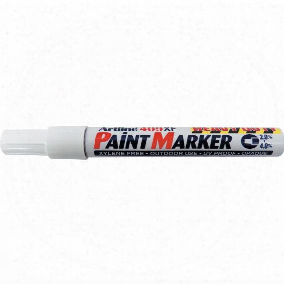Artline 409xf H/d White Paint Marker (pk-12)