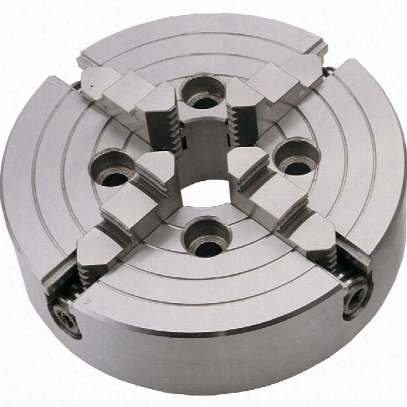 Bison 4344 315mm 4-jaw Lathe Chuck 6 Taper Mount
