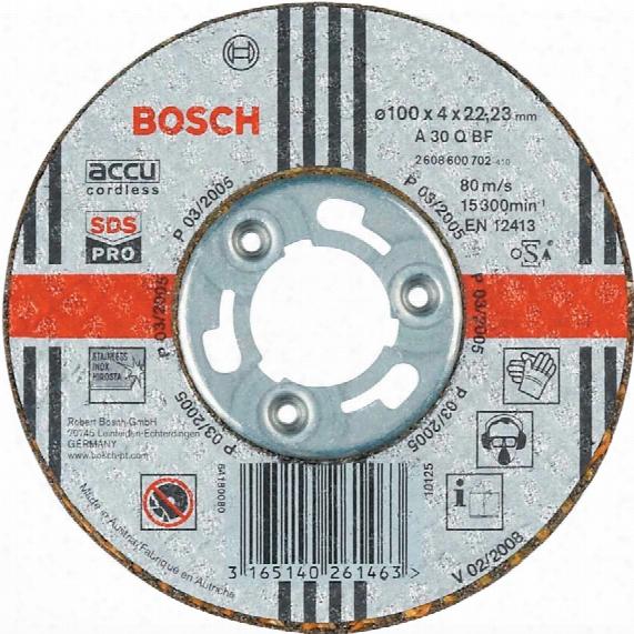 Bosch 2608600702 100x22.2x4.00mmst/st Grinding Disc G30