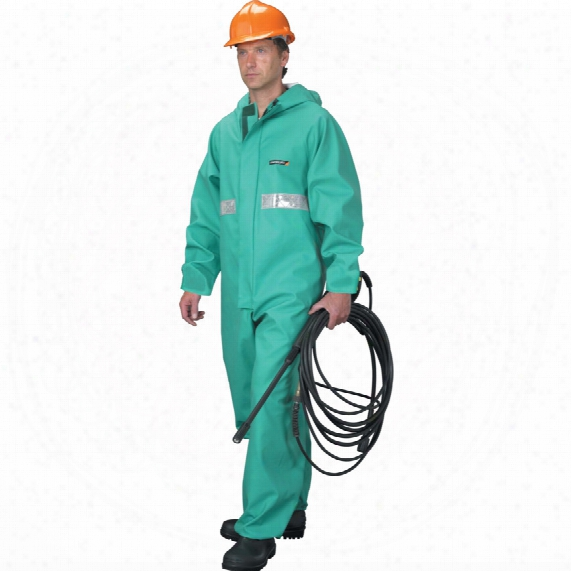 Cpbh-r Chemsol Plus Boiler Suit C/w Refl. Tape (l) Green