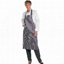 "Beeswift Click Original Workwear Cccbsbanw Striped Butchers Apron Nvy/Wht 34""X40"