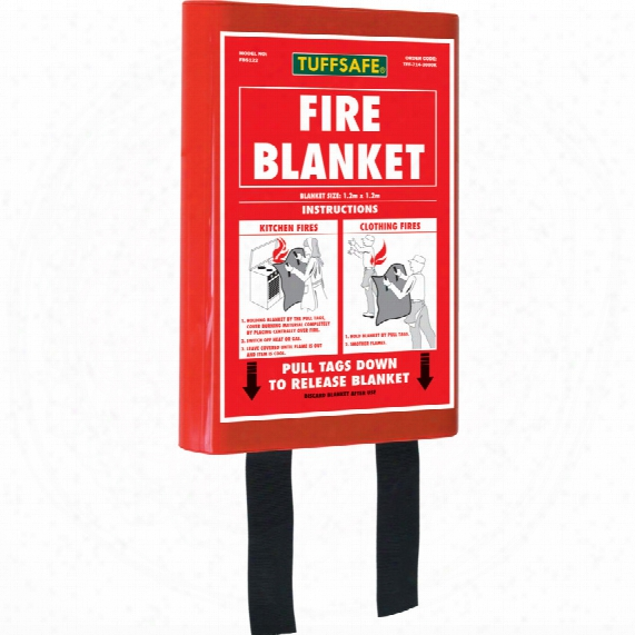 Tuffsafe Fire Blanket Kitemarked B S En1 869:1997 1.8mx1.2m