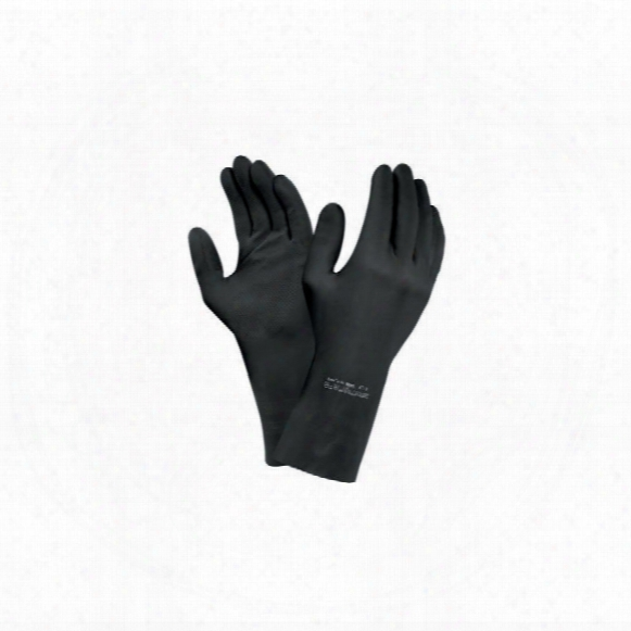 Ansell 87-950 Latex Black Gloves 8.1/2-9