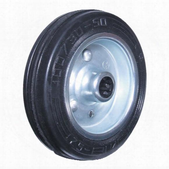 Atlas Workholders 100mm Black Rubber Tyre Steel Centre