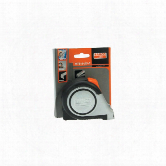Bahco Mts-8-25-e 8m Magnetic Measure Tape S/steel