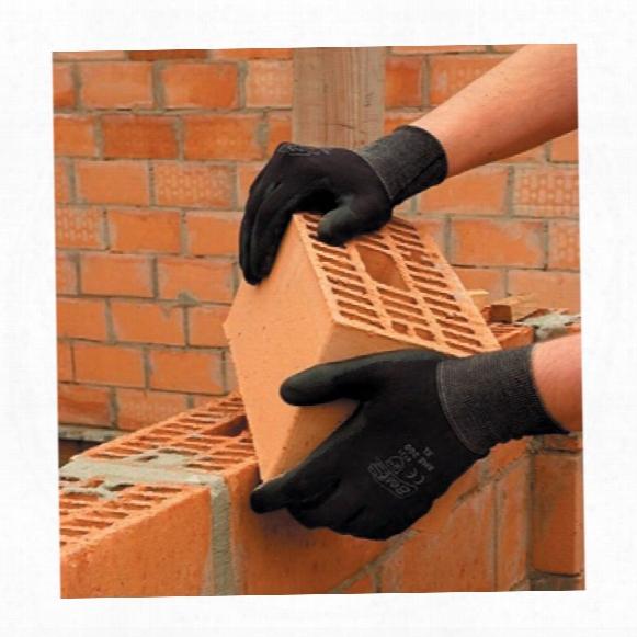 Best Bme200-08 Black Pu/nylon Gloves 8/m