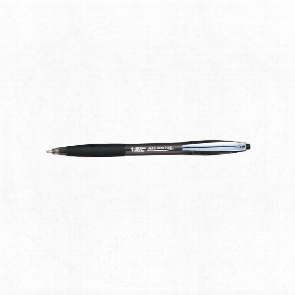 Bic Atlantis Prem. 1.0mm Ballpoint Black (pk-12)