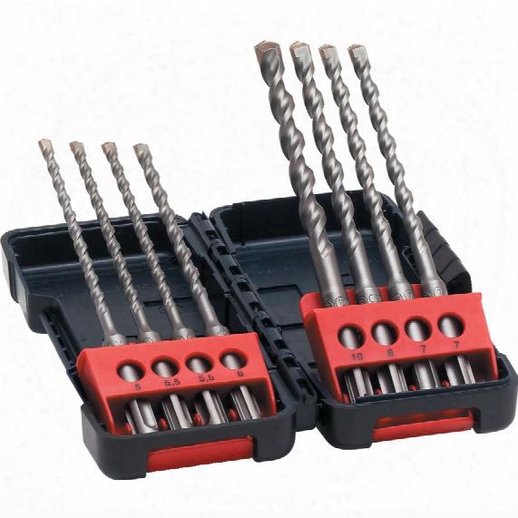 Bosch 2607019904 8-pc Sds Plus 3 Drill Bit Set In Tough Box