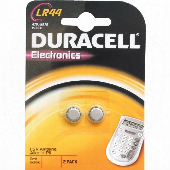 Duracell Lr44 Batteries 1.5v (pk-2)