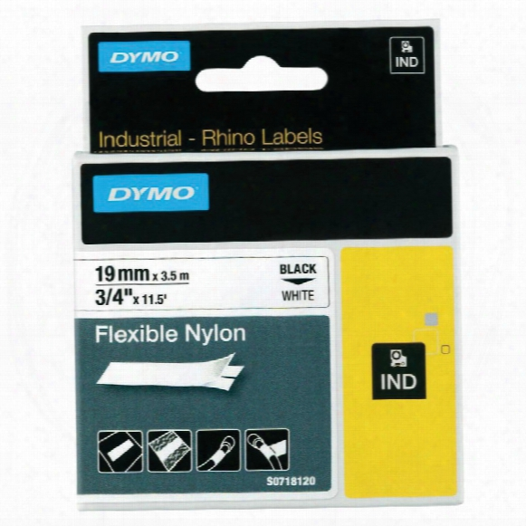 Dymo Rhino 19mm White Nylon Flexible Tape 18489