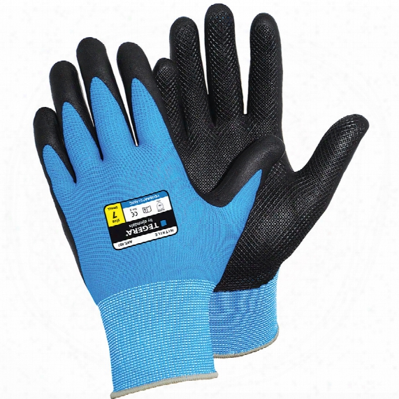 Ejendals 887 Teger A Classic Palm-side Coated Blue/black Gloves - Size 9