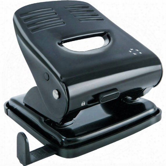 Five Star 5 Star 2-hole 30 Sheet Punch Metal Black