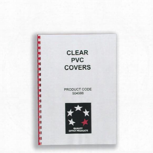 Five Star 5 Star Pvc Clear Binding Covers 250 Mic (pk-100)