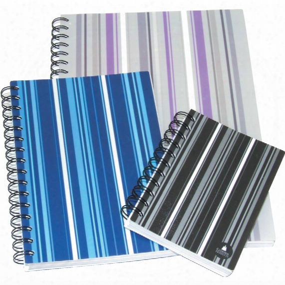 Cathedral A6 Striped Notebook Blue