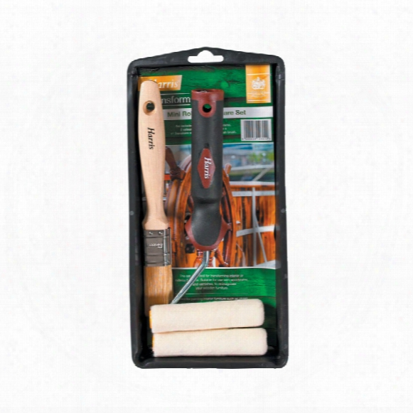 Harris Transform Mini Roller & Brush Woodcare Kit
