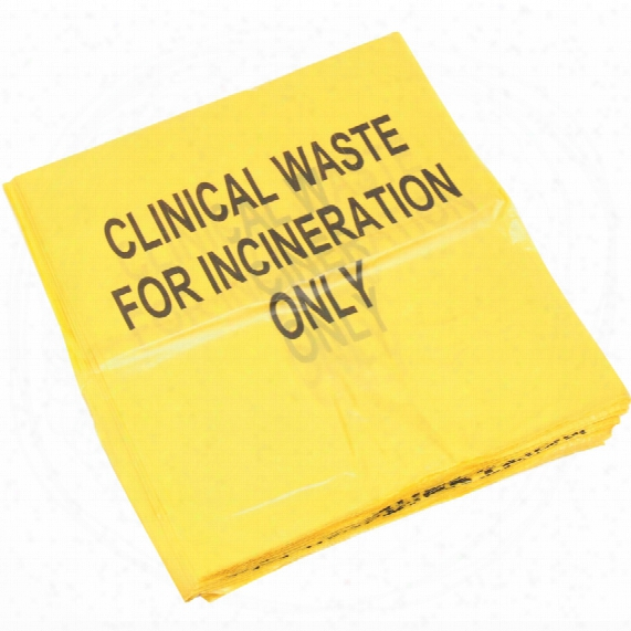 Kennedy 18x29x39 Yellow Clinical Incinerate Waste Sacks