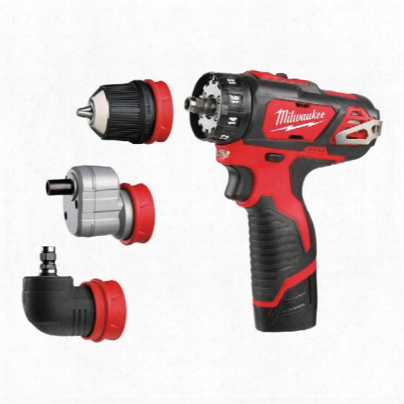 Milwaukee M12bddxkit-202c M12 4-in-1 Drill Driver Kit 2x2.0ah Li-ion Batts