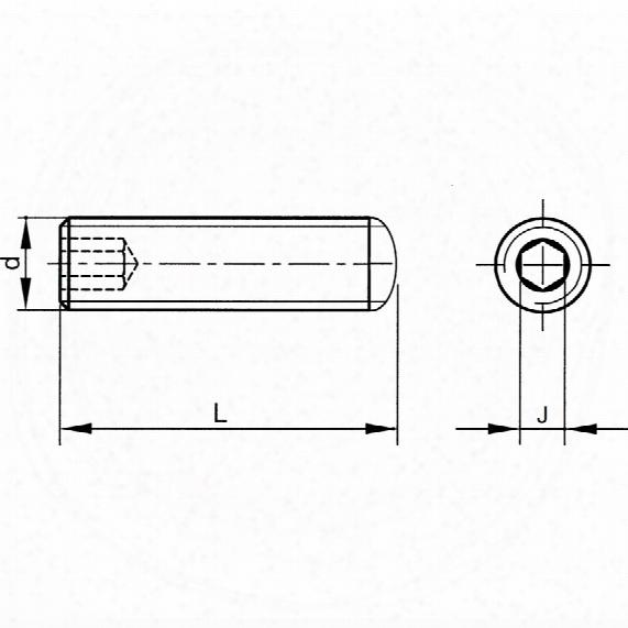 Qualfast M12x20 Skt Set Screw - Cone Point Bzp (gr-45h) (14.9)