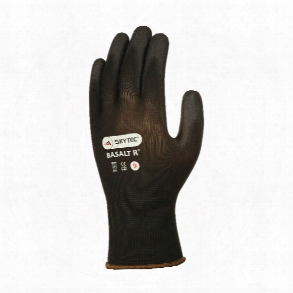 Skytec Sky41 Basalt Palm-side Coated Black Gloves - Size 6