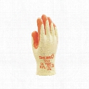 Showa 310O Orange/Yellow Palm-Side Coated Grip Gloves - Size 10