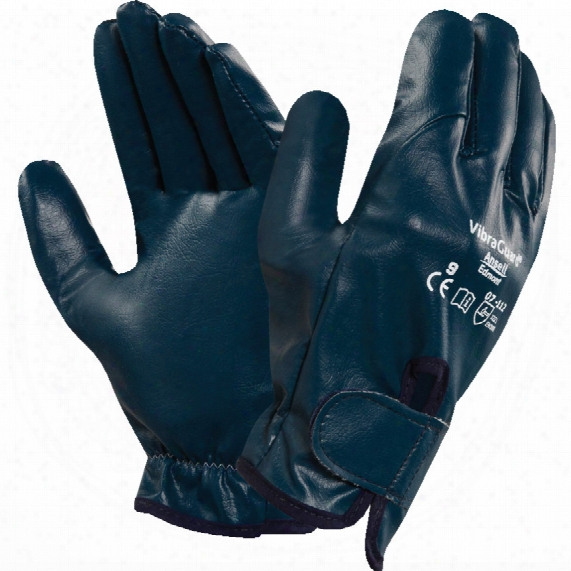 Ansell 07-112 Vibraguard Fully Coated Blue Gloves - Size 9