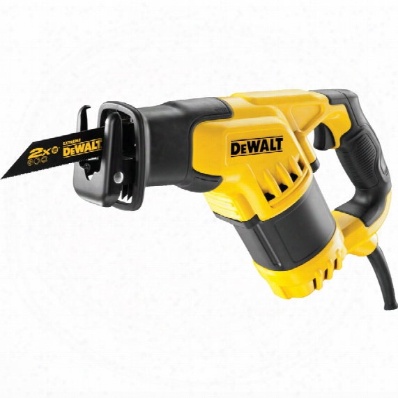 Dewalt Dwe357k-gb 280mm 1050w Compact Recip. Saw 240v