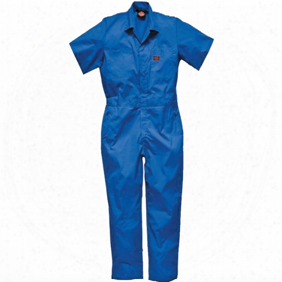 Dickies Wd3399 S/sleeved P/cotton Coverall Blue 40r