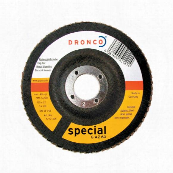 Dronco 115x22mm G-aza Zirconium Flap Disc P60