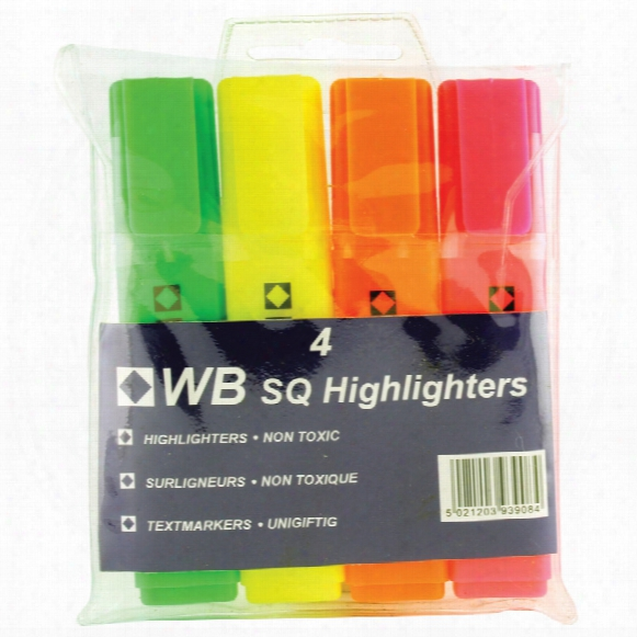 Highlighter Wallet 4 Assorted