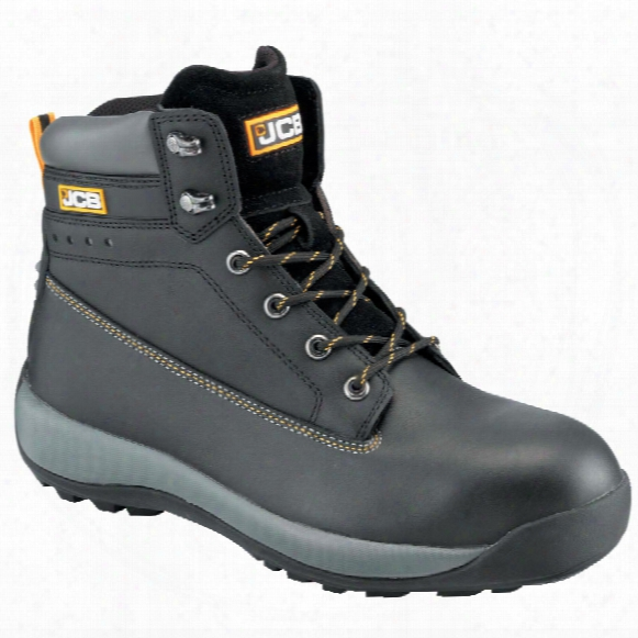 Jcb 5cx/b Black Safety Boots - Size 9