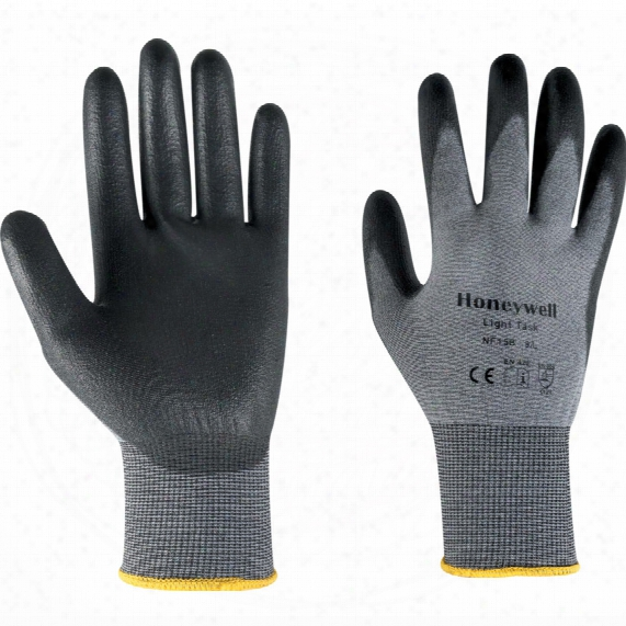 North By Honeywell Nf15b Light Task Palm Coated Black Gloves - Size 10