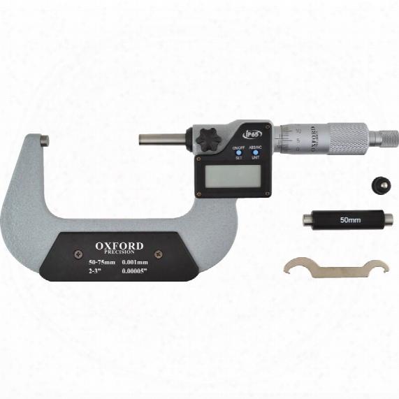 """Oxford 50-75mm/2-3"""" Ip65 Digital External Micrometer"""