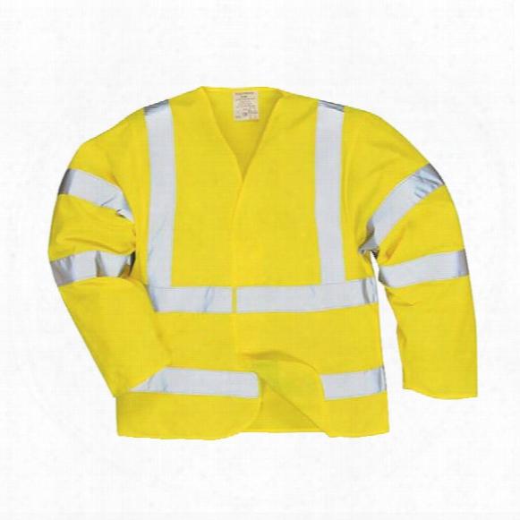 Portwest Fr73 Flame Retardant Hi-vis Jacket Yellow 2xl/3xl