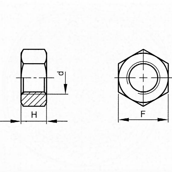 Qualfast 1/4unc Hex Nut Bzp (5) - Pack Of 100