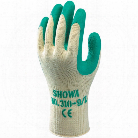 Showa 310g Green/natural Grip Gloves - Size 8